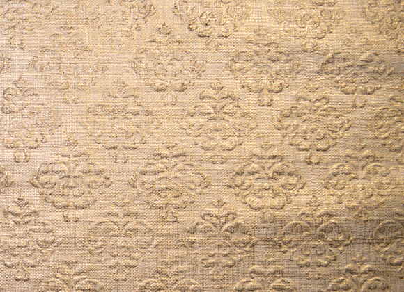victoria gold embossed raffia wallpaper