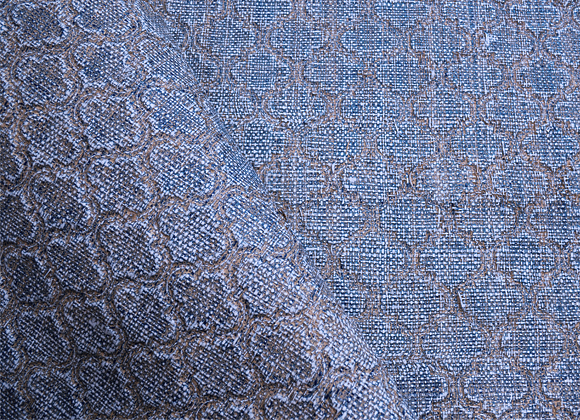 morrocan blue embossed raffia wallcoverings