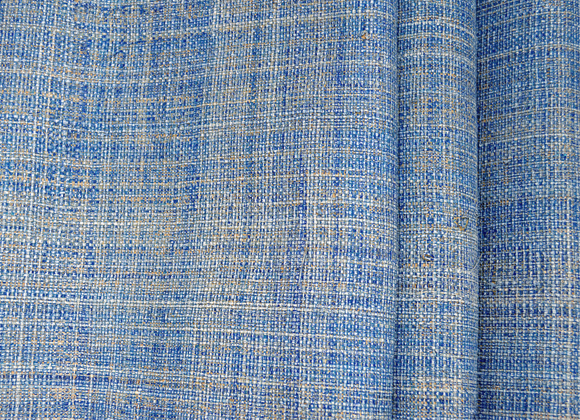 blue raffia wallpaper