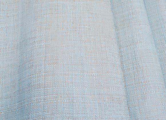 light blue raffia wallpaper