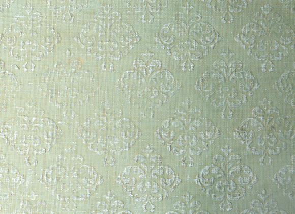victoria green embossed raffia wallcovering