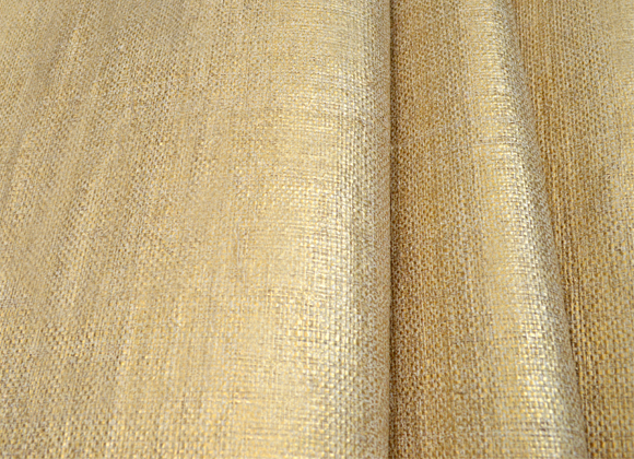 gold metallic raffia wallpaper