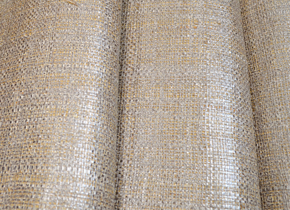metallic silver raffia wallcoverings