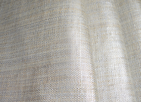 baltic silver metallic raffia wallpaper