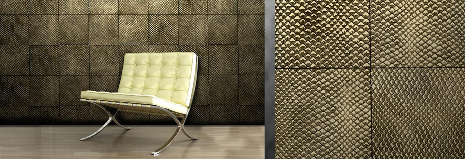 Leather Tiles - Barbarossa Wallcoverings
